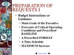 preparation of requests i