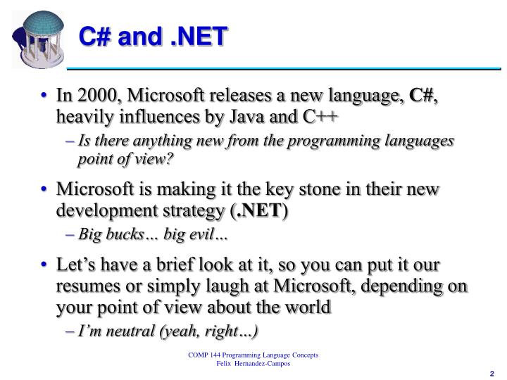 C and net