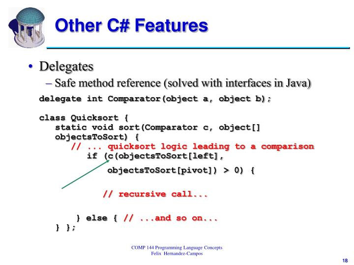 Other C# Features