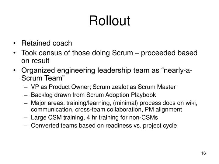 Rollout