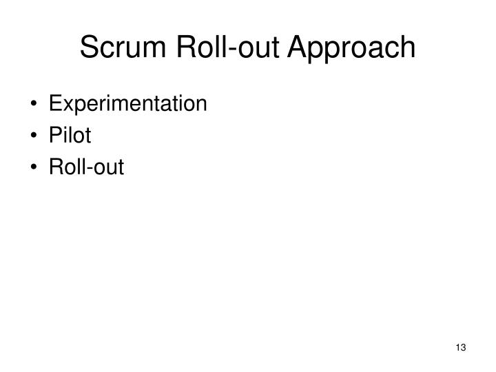 Scrum Roll-out Approach