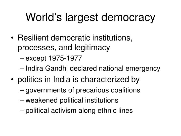 World's largest democracy