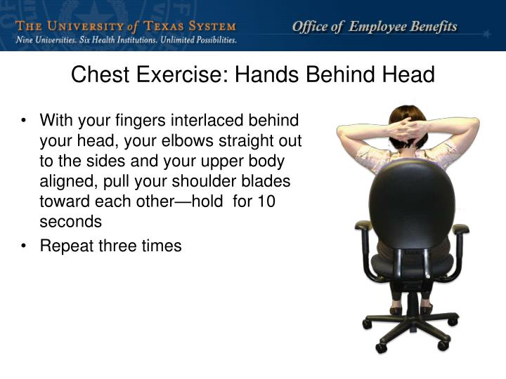 Chest Exercise: Hands Behind Head
