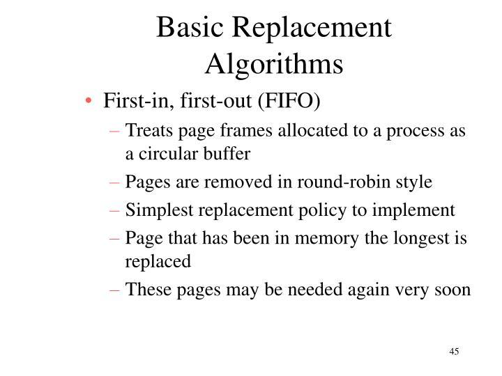 Basic Replacement Algorithms
