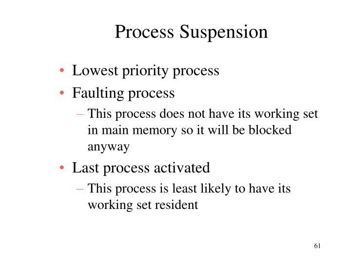 Process Suspension