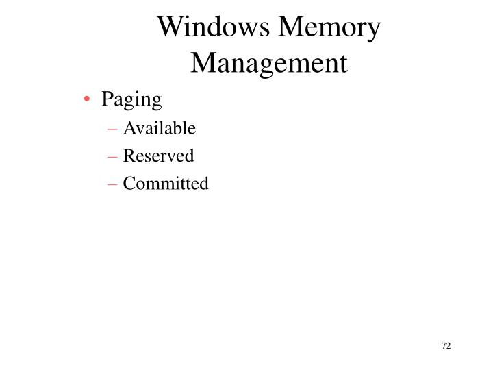 Windows Memory Management