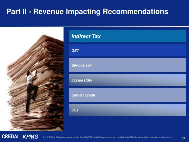 Part II - Revenue Impacting Recommendations