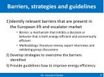 barriers strategies and guidelines
