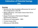 estimation of potential savings lifts