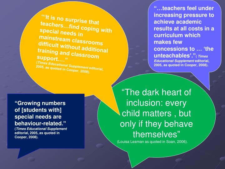 """""""…teachers feel under increasing pressure to achieve academic results at all costs in a curricul..."""