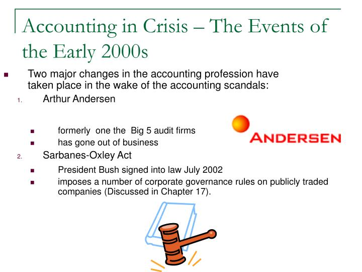 Accounting in Crisis – The Events of the Early 2000s
