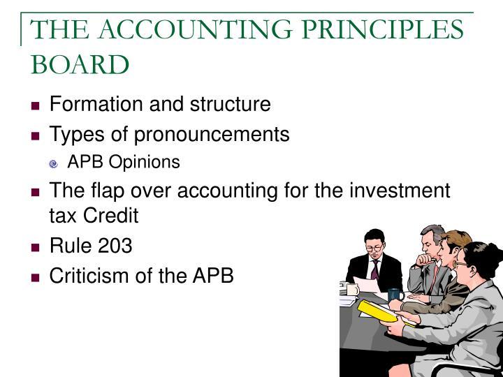 THE ACCOUNTING PRINCIPLES BOARD