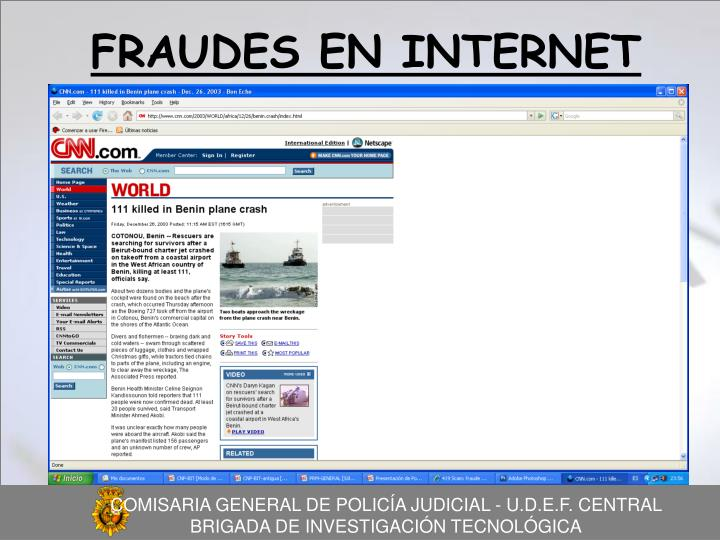 FRAUDES EN INTERNET