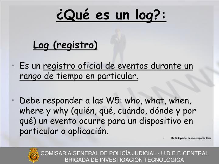 ¿Qué es un log?: