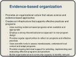 evidence based organization