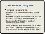 evidence based programs
