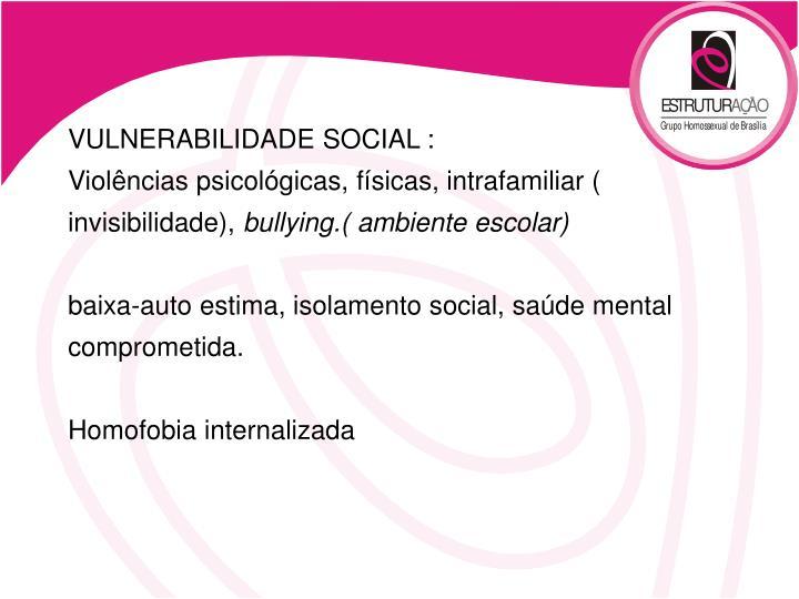 VULNERABILIDADE SOCIAL :