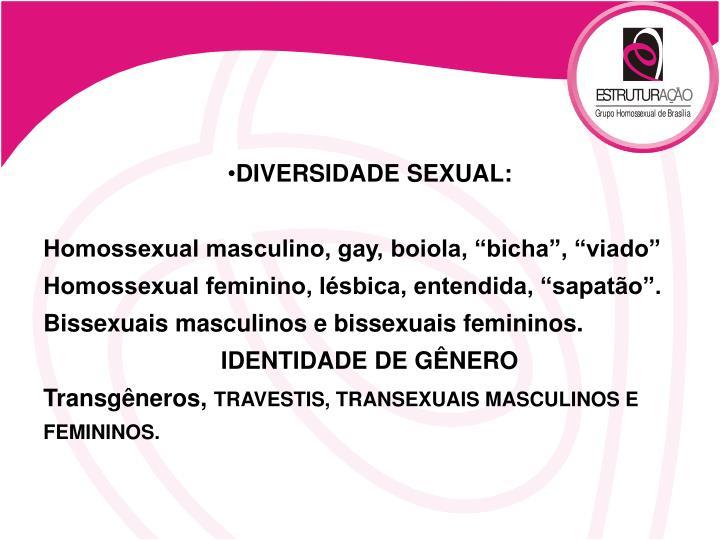 DIVERSIDADE SEXUAL: