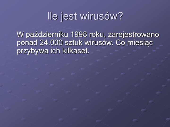 Ile jest wirusów?