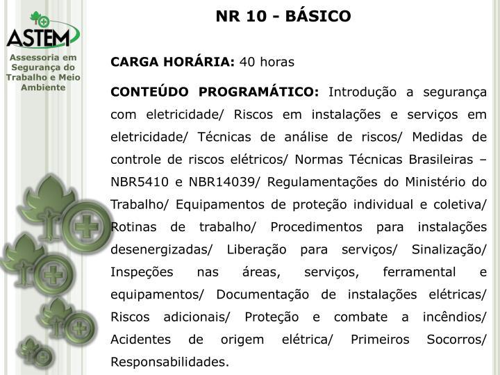 NR 10 - BÁSICO