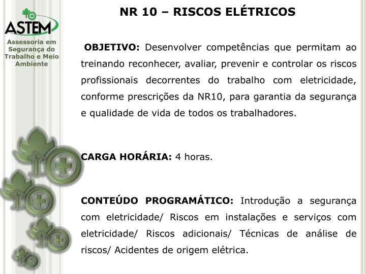 NR 10 – RISCOS ELÉTRICOS