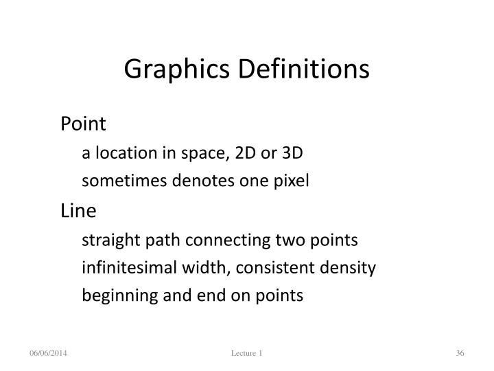 Graphics Definitions