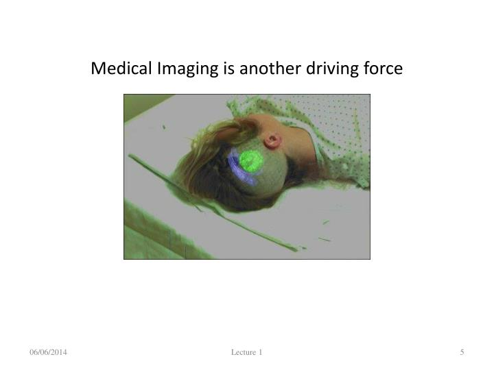 Medical Imaging is another driving force
