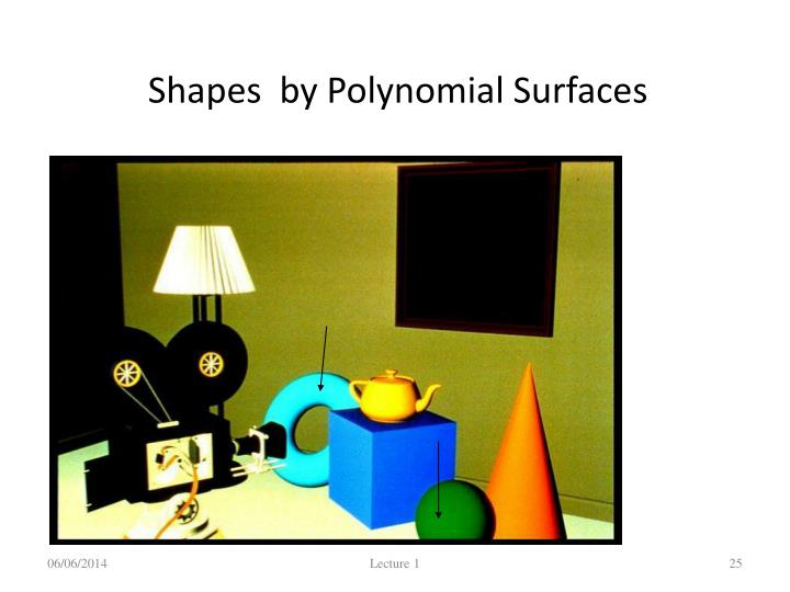 Shapes  by Polynomial Surfaces