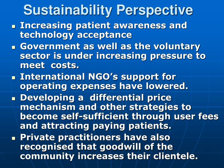 Sustainability Perspective