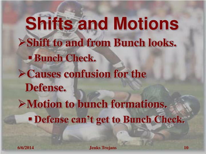 Shifts and Motions