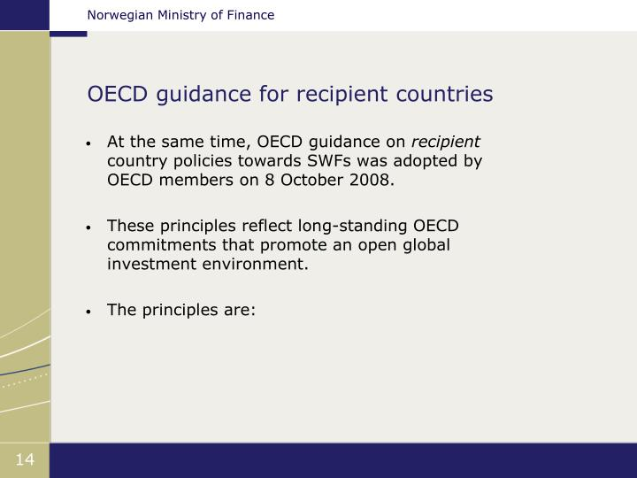 OECD guidance for recipient countries