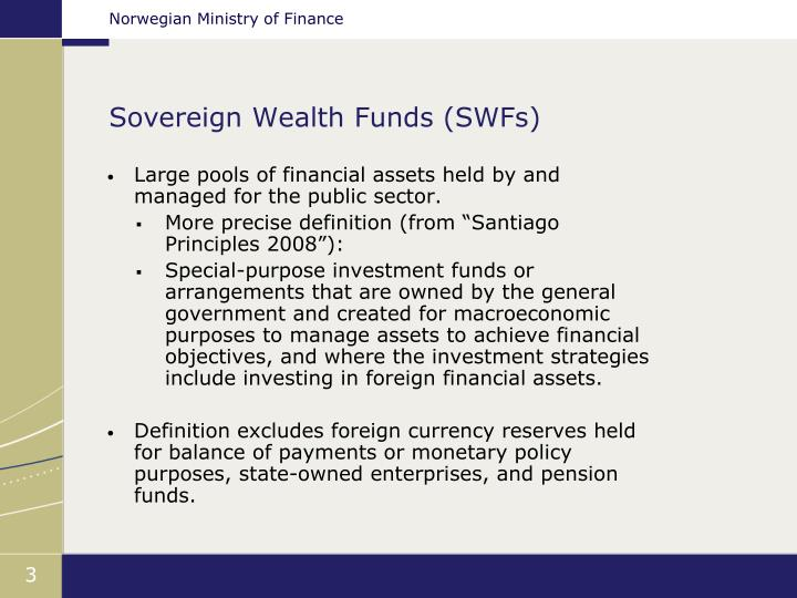 Sovereign wealth funds swfs
