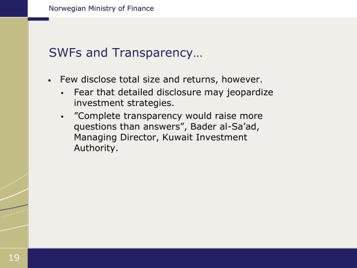 SWFs and Transparency…