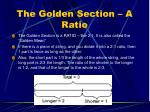 the golden section a ratio