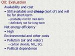 oil evaluation
