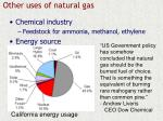 other uses of natural gas