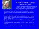 william hamilton s concept of inclusive fitness