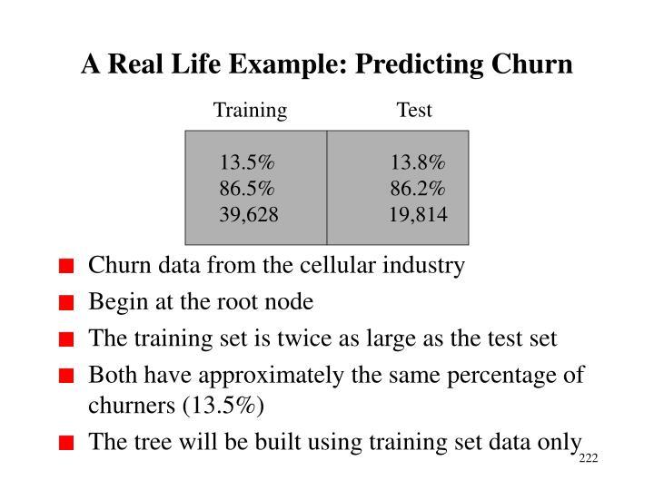 A Real Life Example: Predicting Churn