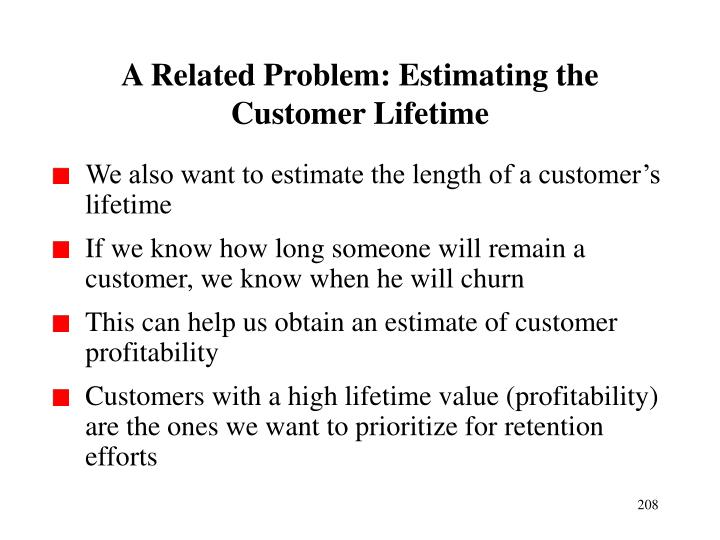 A Related Problem: Estimating the