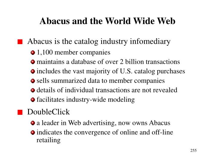 Abacus and the World Wide Web