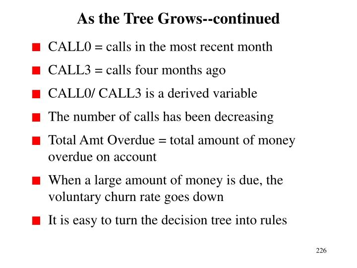 As the Tree Grows--continued