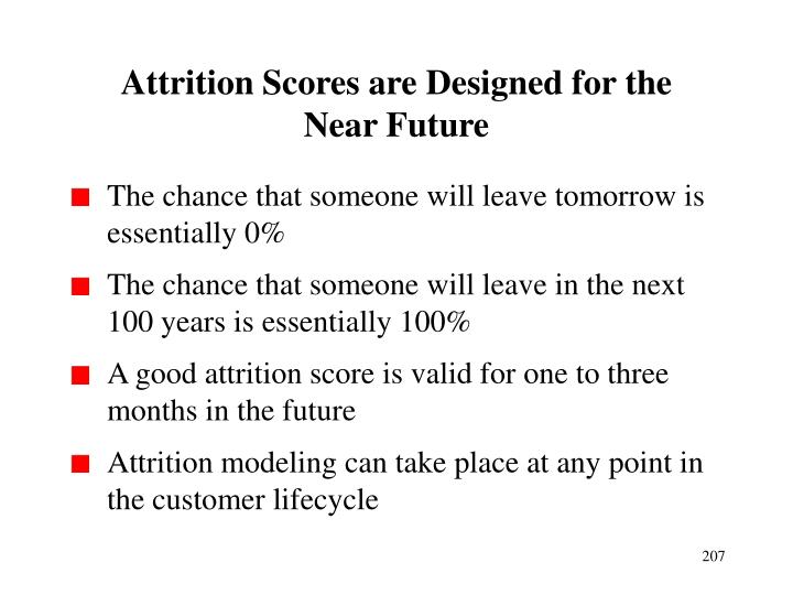 Attrition Scores are Designed for the