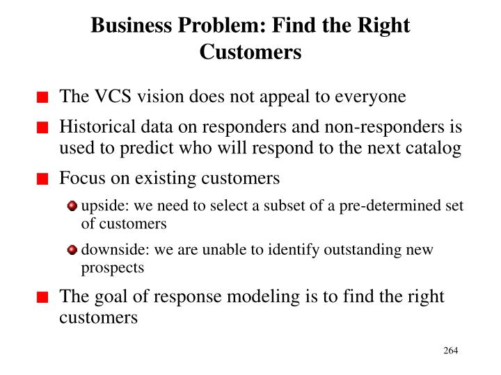 Business Problem: Find the Right Customers