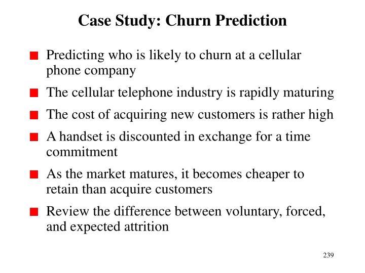 Case Study: Churn Prediction