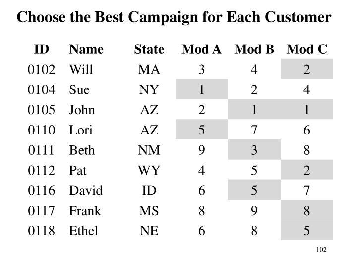 Choose the Best Campaign for Each Customer