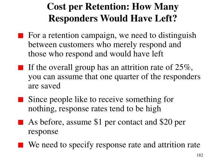 Cost per Retention: How Many