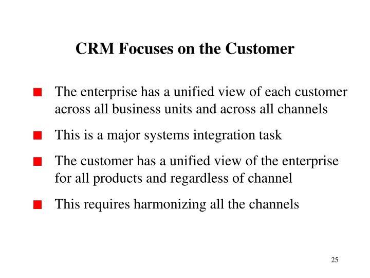 CRM Focuses on the Customer