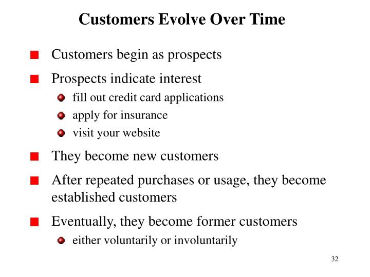 Customers Evolve Over Time