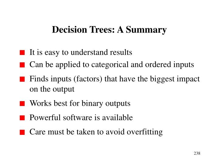 Decision Trees: A Summary