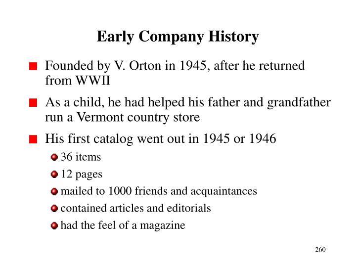 Early Company History